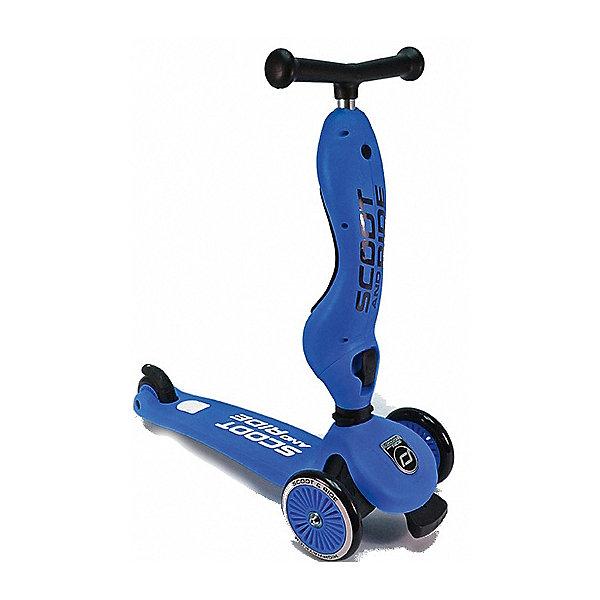 Самокат Scoot&amp;Ride «HighwayKick» 1 Seat, синийСамокаты<br>Характеристики:<br><br>• возраст: от 1 года;<br>• цвет: синий;<br>• максимальная нагрузка: для сиденья 20 кг, для самоката 50 кг;<br>• диаметр колес: переднее 120 мм, заднее 80 мм;<br>• конструкция: разборный;<br>• класс подшипника: FBEC 5;<br>• дека: пластик, ширина 11 см, длина 37 см;<br>• тормоз: ножной;<br>• размеры самоката: 53х23х25 см;<br>• вес самоката: 2,8 кг;<br>• размеры упаковки: 57х26х18 см;<br>• вес упаковки: 3,680 кг.<br><br>Самокат Scoot&amp;Ride «HighwayKick» 1 Seat (Скут энд Райд Хайвэй фрик 1) имеет модную систему поворотов с помощью наклонов. Это развивает у ребенка баланс и равновесие. Сиденье и руль имеют три положения высоты. Это один качественный продукт на многие годы. Высокая максимальная нагрузка в режиме самоката - 50 килограмм!<br><br>Форма сиденья невероятно удобная, оно имеет достаточный размер и мягкую накладку и 3 положения высоты. Максимальная нагрузка на сиденье имеет большой запас и достигает 20 кг.<br>Если ребенок пока еще неуверенно чувствует себя на самокате, то можно переключатся в режим каталки, чтобы набраться навыков. Специальный стоппер-блокиратор снизу передней части самоката, что не позволит завалиться самокату. <br><br>Самокат Scoot&amp;Ride «HighwayKick» 1 Seat (Скут энд Райд Хайвэй фрик 1), синий можно приобрести в нашем интернет-магазине.<br>Ширина мм: 570; Глубина мм: 260; Высота мм: 170; Вес г: 2800; Цвет: синий; Возраст от месяцев: 12; Возраст до месяцев: 48; Пол: Мужской; Возраст: Детский; SKU: 8302661;