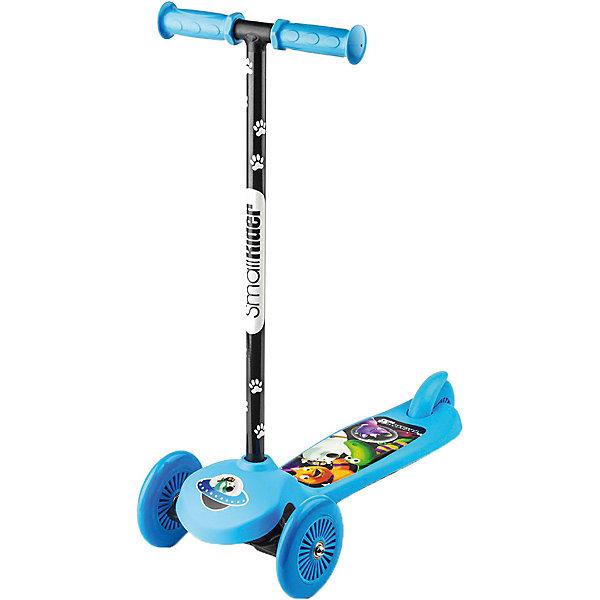 Трехколесный самокат Small Rider «Scooter» Cosmic Zoo, синийСамокаты<br>Характеристики:<br><br>• возраст: от 2 лет;<br>• цвет: синий;<br>• максимальная нагрузка: 25 кг;<br>• руль: съемный;<br>• подшипник: ABEC 5;<br>• рукоятки: пластик;<br>• высота от пола до ручки: 64 си;<br>• высота от платформы до ручки: 58 см;<br>• длина: 58 см;<br>• ширина колесной базы: 22 см;<br>• задний тормоз;<br>• диаметр колес: 120 мм, ПВХ;<br>• тип шин: цельные;<br>• вес: 1,7 кг;<br>• размеры упаковки: 58х12х25 см;<br>• вес упаковки: 2,1 кг;<br>• страна бренда: Россия.<br><br>Трехколесный самокат Small Rider «Scooter» Cosmic Zoo (Смолл Райдер Скутер) управляется с помощью наклонов, Для того, чтобы сделать поворот, ребенку нужно перенести свой вес в одну из сторон и передние колеса самоката сами повернут в необходимую сторону.<br><br>Самокат достаточно компактен и легок, можно легко отсоединить ручку с рукоятками. Для этого нужно перевернуть самокат, и в основании самоката пальцем отжать «шип», которые удерживает руль. Далее потянуть рулевую колонку на себя, и она легко снимется.<br><br>Трехколесный самокат Small Rider «Scooter» Cosmic Zoo (Смолл Райдер Скутер), синий можно приобрести в нашем интернет-магазине.<br>Ширина мм: 580; Глубина мм: 120; Высота мм: 250; Вес г: 2100; Цвет: синий; Возраст от месяцев: 24; Возраст до месяцев: 48; Пол: Мужской; Возраст: Детский; SKU: 8302675;