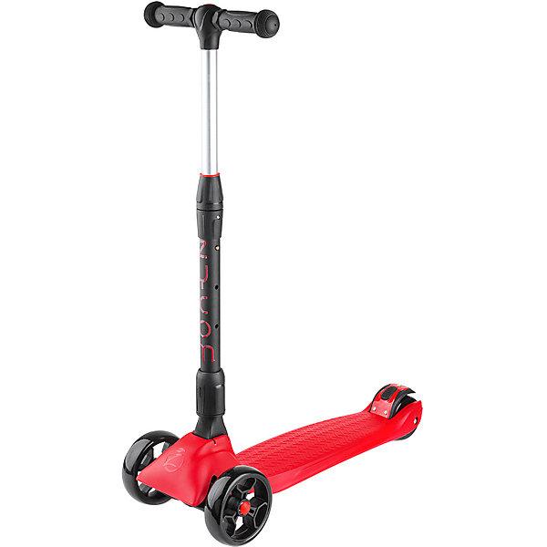Трехколесный самокат Zycom «Zinger Maxi XL», черно-красныйСамокаты<br>Характеристики:<br><br>• возраст: от 3 лет;<br>• цвет: черно-красный;<br>• максимальная нагрузка: 80 кг;<br>• диаметр колес: передние 125 мм, заднее 80 мм;<br>• материал колес: полиуретан;<br>• тормоз: ножной;<br>• класс подшипника: FBEC 7;<br>• размер деки: ширина 13 см, длина 60 см;<br>• высота руля: регулируемая 55-87 см;<br>• складной;<br>• вес самоката: 3.3 кг;<br>• размеры упаковки: 60х18х27 см;<br>• вес упаковки: 3,7 кг.<br><br>Трехколесный самокат Zycom «Zinger Maxi XL» (Зайком Зингер Макси Икс-эль) имеет несколько положений ручки с максимальной высотой 87 см, он будет комфортен и для ребенка, и даже для подростка!<br><br>Для удобства управления самокатом и получения больших ощущений при гонке он спроектирован так, что повороты на нем осуществляются с помощью наклонов.<br><br>Складная и регулируемая по высоте ручка. Диски колес сделаны из очень прочного пластика, благодаря чему выдерживают большой вес и не трескаются.  установлен большой задний тормоз.<br><br>Трехколесный самокат Zycom «Zinger Maxi XL» (Зайком Зингер Макси Икс-эль), черно-красный можно приобрести в нашем интернет-магазине.<br>Ширина мм: 600; Глубина мм: 180; Высота мм: 270; Вес г: 3700; Цвет: красный; Возраст от месяцев: 36; Возраст до месяцев: 120; Пол: Унисекс; Возраст: Детский; SKU: 8302681;