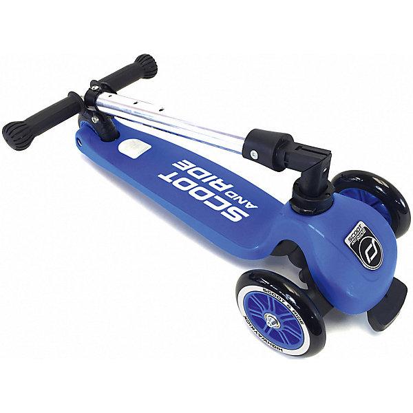 Самокат Scoot&amp;Ride «HighwayKick 3», синийСамокаты<br>Характеристики:<br><br>• возраст: от 3 лет;<br>• цвет: синий;<br>• максимальная нагрузка: 50 кг;<br>• диаметр колес: переднее 120 мм, заднее 80 мм;<br>• складной;<br>• класс подшипника: FBEC 5;<br>• регулировка ручки по высоте: от 62 до 82 см;<br>• материал колес: PU;<br>• тормоз: ножной;<br>• размеры самоката: 55х23х56 см;<br>• вес самоката: 2,6 кг;<br>• размеры упаковки: 57х27х17 см;<br>• вес упаковки: 3,05 кг;<br>• страна бренда: Австрия.<br><br>Самокат Scoot&amp;Ride «HighwayKick 3»  управляется за счет наклонов, что также повышает безопасность его эксплуатации - ручка самоката никогда не развернется в сторону живота ребенка (90 градусов). Самокаты Scoot&amp;Ride имеют фирменный защитный стоппер спереди (safety pad), который не даст самокату опрокинуться вперед.<br><br>На сложении ручки уходит всего 3 секунды, и для этого не требуется специальный инструмент. Самокат удобен как для детей 3-х лет, так и для более старшего возраста, поскольку имеет три положения регулировки высоты ручки.<br><br>Самокат Scoot&amp;Ride «HighwayKick 3» (Скот и Райд Хайвэй Кик 3), синий можно приобрести в нашем интернет-магазине.<br>Ширина мм: 570; Глубина мм: 160; Высота мм: 330; Вес г: 2600; Цвет: синий; Возраст от месяцев: 24; Возраст до месяцев: 60; Пол: Мужской; Возраст: Детский; SKU: 8302737;
