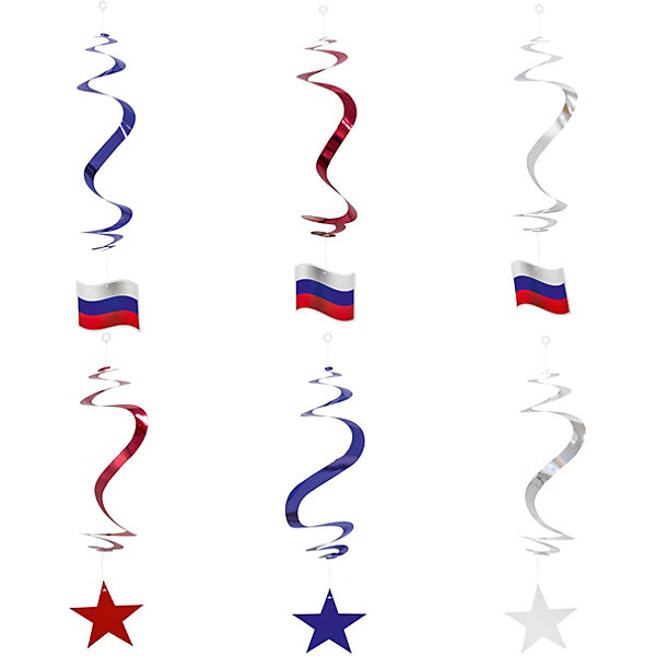 Набор праздничных подвесок ACTION! Россия, 6 штБаннеры и гирлянды для детской вечеринки<br>Характеристики:<br><br>• возраст: от 3 лет;<br>• материал: картон;<br>• вес: 60 гр;<br>• количество: 6 шт.;<br>• размер:  10х2х20 см;<br>• бренд: Action!.<br> <br>Набор праздничных подвесок ACTION! «Россия», 6 шт станет прекрасным дополнением как новогодней елки, так и интерьера комнаты, украшая полку или праздничный стол. Набор состоит из 6 подвесок.  Элементы игрушек окрашены в яркие цвета, чем обязательно привлекут особое внимание. <br><br>Набор праздничных подвесок ACTION! «Россия», 6 шт можно купить в нашем интернет-магазине.<br>Ширина мм: 100; Глубина мм: 30; Высота мм: 200; Вес г: 60; Возраст от месяцев: 36; Возраст до месяцев: 2147483647; Пол: Унисекс; Возраст: Детский; SKU: 8304053;