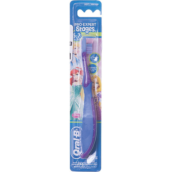 Детская зубная щетка Oral-B Stages 5-7 лет, фиолетово-синяяЗубные щетки<br>Характеристики:<br><br>• зубная щетка разработана для детей 5-7 лет;<br>• очищает труднодоступные задние зубы;<br>• защита и массирование десен;<br>• оформление в стиле Дисней.<br><br>Детская зубная щетка Oral-B разработана для детей 5-7 лет, у которых начинают прорезываться моляры, а некоторые молочные зубы выпадают. Зубная щетка позволяет очищать зубы не только с одной стороны, но и достать задние зубы, охватывает и чистит каждый зуб. Зубная щетка оформлена в стиле Дисней. <br><br>Детская зубная щетка Oral-B Stages 5-7 лет можно купить в нашем интернет-магазине.<br>Ширина мм: 42; Глубина мм: 21; Высота мм: 228; Вес г: 25; Цвет: blau/lila; Возраст от месяцев: 72; Возраст до месяцев: 84; Пол: Унисекс; Возраст: Детский; SKU: 8304551;