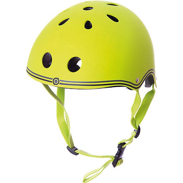 Шлем Globber «Junior», зеленыйЗащитные аксессуары<br>Характеристики:  • цвет: зеленый; • размер: XXS (48-51см); • регулируемая застежка; • безопасная вставка внутри шлема; • 11 вентиляционных отверстий; • подходит как для мальчика, так и для девочки. • вес упаковки: 500 гр.; • размеры упаковки: 24х21х14,5 см; • страна бренда: Франция.  Детские шлемы Globber (Глоббер) созданы для максимальной защиты вашего малыша во время прогулок на самокате. Доступны в 10 расцветках, также доступны 6 тематических расцветок, которые сочетаются с самокатами PRIMO FANTASY (Прайм Фентази).  Оборудованы регулируемыми кольцами и ремнями, чтобы быстро и легко затянуть шлем для удобного и надёжного прилегания шлема к голове. Все модели с глубоко проложенными, вшитыми вставками в оболочке шлема для максимального комфорта и безопасности. 11 вентиляционных отверстий, распределённых по всему шлему, гарантируют наилучшее проветривание головы во время катания.   Шлем Globber «Junior» (Глоббер Джуниор) можно купить в нашем интернет-магазине.<br>Ширина мм: 240; Глубина мм: 210; Высота мм: 145; Вес г: 500; Цвет: зеленый; Возраст от месяцев: 12; Возраст до месяцев: 2147483647; Пол: Мужской; Возраст: Детский; SKU: 8304658;
