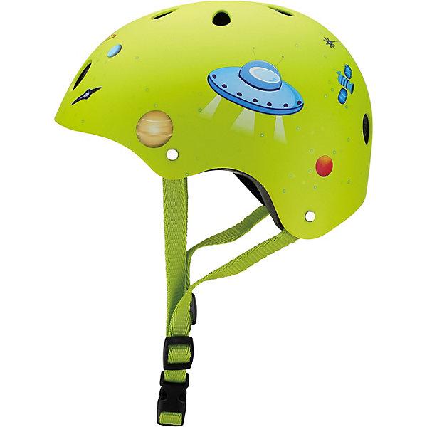 Шлем Globber Printed Junior, зеленыйЗащита<br>Характеристики: <br>• размер: XS (51-54 см); <br>• регулируемая застежка; <br>• безопасная вставка внутри шлема; <br>• 11 вентиляционных отверстий; <br>• подходит как для мальчика, так и для девочки;<br>• вес упаковки: 500 гр.; <br>• размеры упаковки: 24х21х14,5 см; <br>• страна бренда: Франция. <br><br>Детские шлемы Globber (Глоббер) созданы для максимальной защиты вашего малыша во время прогулок на самокате.  <br>Оборудованы регулируемыми кольцами и ремнями, чтобы быстро и легко затянуть шлем для удобного и надёжного прилегания шлема к голове. Все модели с глубоко проложенными, вшитыми вставками в оболочке шлема для максимального комфорта и безопасности. 11 вентиляционных отверстий, распределённых по всему шлему, гарантируют наилучшее проветривание головы во время катания.
