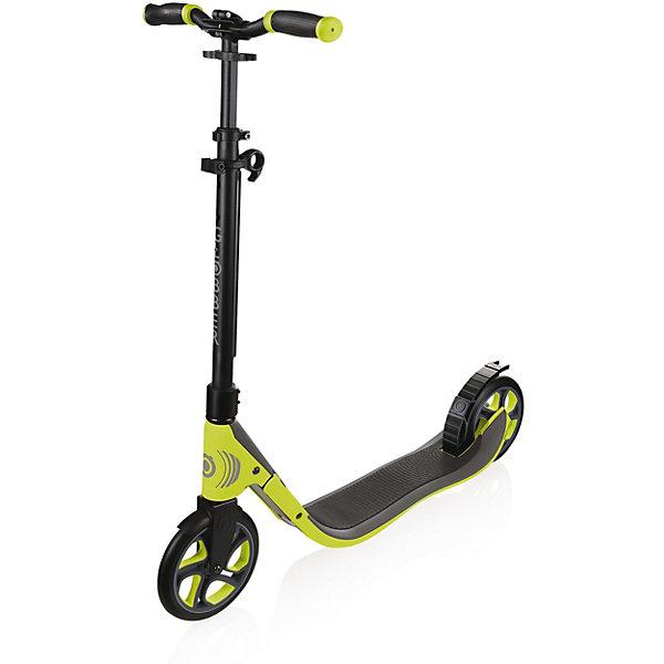 Двухколесный самокат Globber One NL 205, зеленыйСамокаты<br>Характеристики:<br><br>• возраст: от 8 лет;<br>• цвет: зеленый;<br>• материал: алюминий;<br>• максимальная нагрузка до 100 кг;<br>• размер колес: 20,5 см;<br>• ширина доски: 14 см;<br>• длина доски: 54 см;<br>• высота руля 89 см;<br>• складной механизм;<br>• материал доски: пластик;<br>• рекомендуемый рост 120-190 см;<br>• задний тормоз: ножной;<br>• материал колес: полиуретан;<br>• подшипник: abec 7;<br>• вес упаковки: 7 кг;<br>• размеры упаковки: 93х19,5х32,5 см;<br>• страна бренда: Франция.<br><br>Самокат Globber (Глоббер) «One NL 205» - идеальный самокат для родителей, которые хотят проводить больше времени со своими детьми и неторопливо передвигаться по городу. Благодаря моментальной системе складывания, расположенной на рулевой стойке, взрослым больше не нужно неудобно наклоняться, чтобы сложить самокат. Просто поднимите и потяните зажим, и самокат автоматически соберется в режим хранения или в режим перевозки.<br><br>Благодаря тройной усиленной доске, покрытой пеной и укомплектованной полиуретановыми колесами, чрезвычайно удобен для многочасовой езды. Сверх широкие изогнутые насадки на ручки и регулируемый Т-образный руль.. Версия DELUXE (Делюкс) исполнена дополнительно со светоотражающими элементами на руле, рулевым тормозом и звонком для максимальной безопасности и удобства.<br><br>Самокат Globber (Глоббер) «One NL 205» можно купить в нашем интернет-магазине.