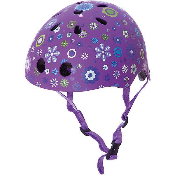 Шлем Globber Printed Junior , фиолетовый, Китай, Женский  - купить со скидкой