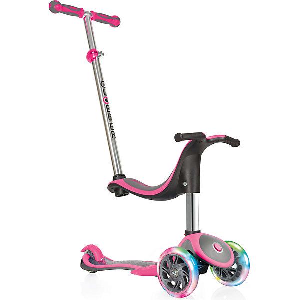 Купить Трехколесный самокат Globber Evo 4 In 1 Plus Lights, розовый, Китай, розовый/розовый, Женский