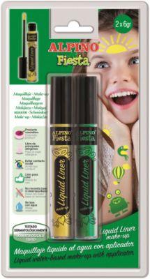 Детский аквагрим  Фиеста  (грим-краска), желтый и зеленый, 2*6гр, артикул:8304982 - Детские карнавальные костюмы и аксессуары