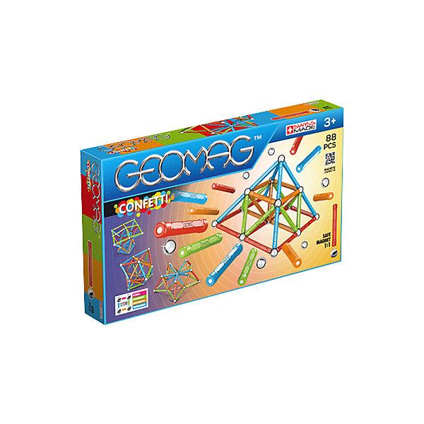 Geomag Конструктор магнитный Geomag Confetti, 88 деталей geomag конструктор магнитный geomag magicube водоплавающие 8 деталей