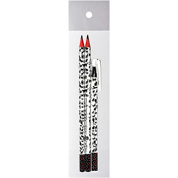 Канцелярский набор Bruno Visconti Кошки-сердечки, 3 предметаКанцелярские наборы<br>Характеристики:<br><br>• возраст: от 6 лет;<br>• материал: пластик, дерево;<br>• в набор входят: шариковая ручка, 2 простых карандаша.<br>• размер упаковки: 18.5х6х2 см.<br><br>Канцелярский набор Bruno Visconti Кошки-сердечки включает в себя шариковую ручку — идеальное решение для любителей тонкого и чистого письма. В стержнях используются качественные пигментные чернила синего цвета, дающие четкую и непрерывную линию на бумаге любого типа.<br><br>Защитный колпачок с клип-зажимом удобно фиксировать в кармане, пенале или отделении ежедневника.<br><br>Чернографитовые карандаши предназначены для черчения и рисования, они имеют целый ряд преимуществ, это:<br>• специальным образом обработанная древесина,<br>• многослойная покраска корпуса (от 13 до 18 раз),<br>• ударопрочный грифель,<br>• все карандаши предварительно заточены,<br>• легко стирается ластиком.<br><br>Канцелярский набор Bruno Visconti Кошки-сердечки, 3 предмета можно купить в нашем интернет-магазине.<br>Ширина мм: 185; Глубина мм: 55; Высота мм: 2; Вес г: 13; Цвет: белый; Возраст от месяцев: 72; Возраст до месяцев: 2147483647; Пол: Унисекс; Возраст: Детский; SKU: 8306185;