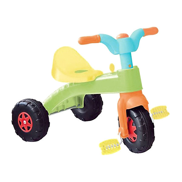 DOLU Трехколесный велосипед Dolu, зеленый/желтый