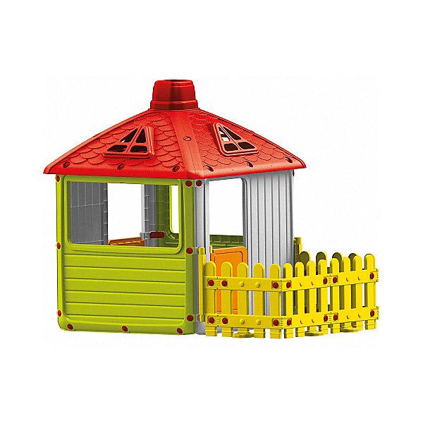 Купить Игровой домик для улицы DOLU Городской дом с ограждением , -, Турция, разноцветный, Унисекс
