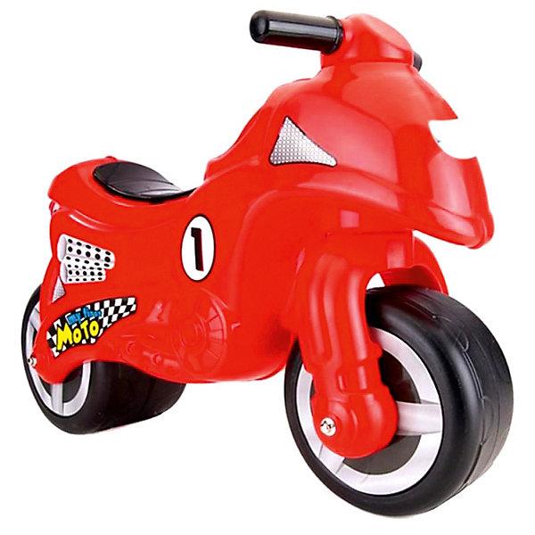 DOLU Мой первый мотоцикл-каталка DOLU, каталка мотоцикл pilsan mini moto в подарочной коробке красный 06 809