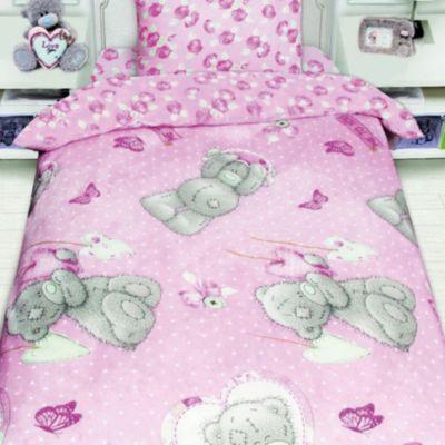 Детское постельное белье 1,5 сп. Teddy с подарком на розовом, артикул:8307857 - Детский текстиль