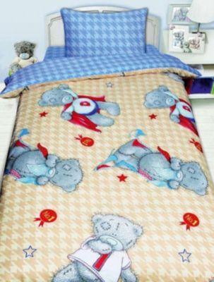 Детское постельное белье 1,5 сп. MTY Ded на бежевом, артикул:8307873 - Детский текстиль