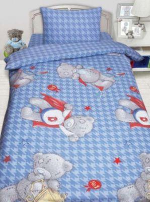 Детское постельное белье 1,5 сп. MTY Ded на голубом, артикул:8307875 - Детский текстиль