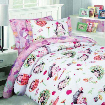 Детское постельное белье 1,5 сп. Mona Liza, Ежата, артикул:8307879 - Детский текстиль