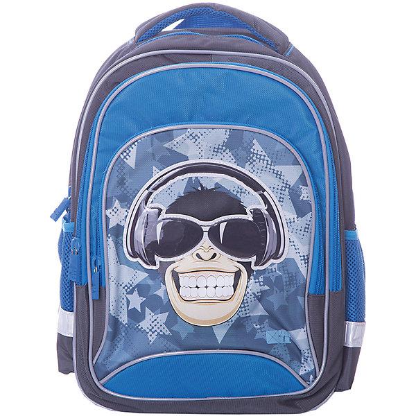 4ALL Рюкзак 4ALL Линия School, серо-синий 4all рюкзак 4all линия school 02p
