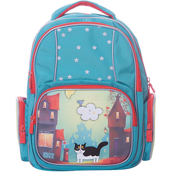 4ALL Рюкзак 4ALL Линия School, сине- 4all рюкзак 4all линия school 02p