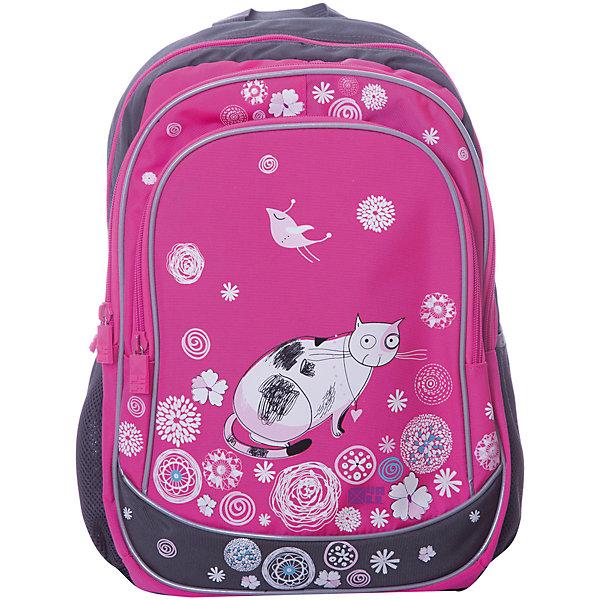 4ALL Рюкзак 4ALL Линия School, серо- 4all рюкзак 4all линия school 02p