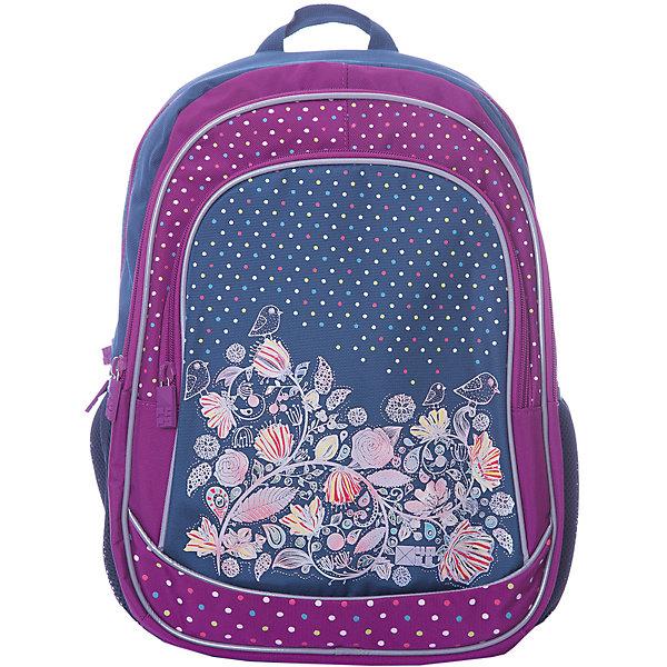 Рюкзак 4ALL Линия School, серо-фиолетовый