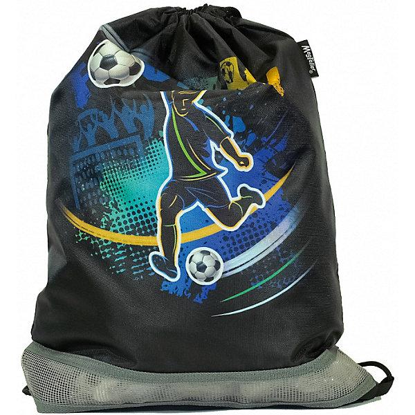 Купить Мешок для обуви MagTaller, Football, Финляндия, черный, Мужской