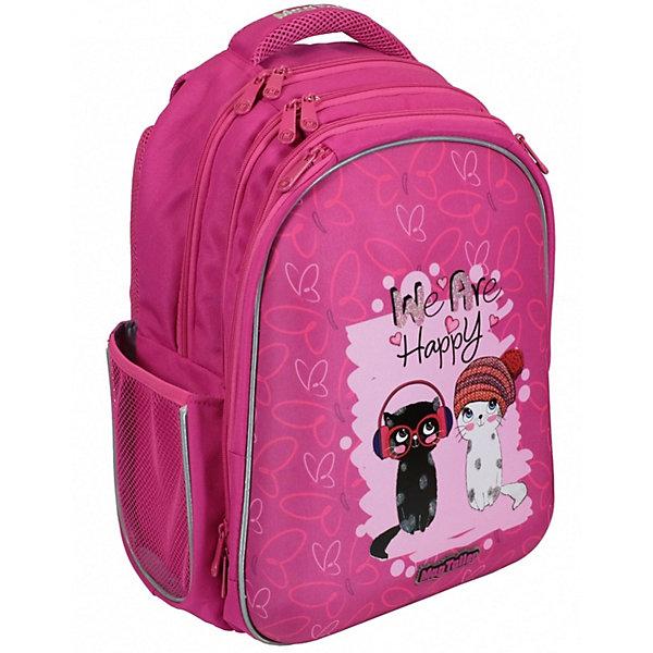 Купить Рюкзак Stoody, Kitties - 40х30х20 см - 600D Polyester - принт - эргономичная вентилируемая жесткая спинка; -, MagTaller, Финляндия, розовый, Женский