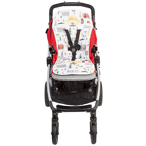 Mammie Хлопковый матрасик в коляску двухсторонний, цвет Москва матрасик в коляску матрас teutonia seat cover цвет 6060