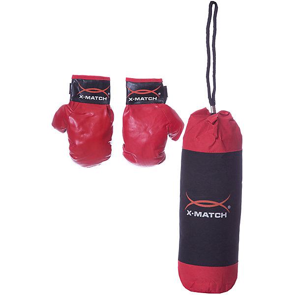 Купить Набор для Бокса X-match, маленькая груша, Китай, красный, Мужской