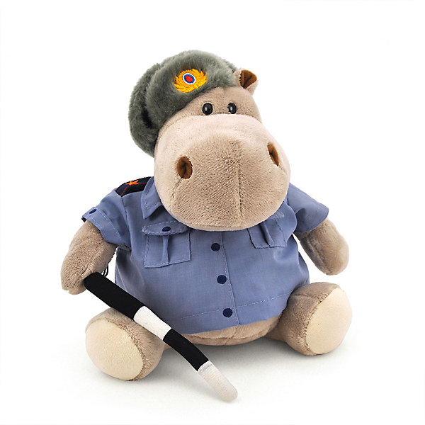 Мягкая игрушка Orange Toys Бегемот Полицейский, 30 смМягкие игрушки животные<br>Характеристики:<br><br>• возраст: от 3 лет;<br>• материал:  плюш, наполнитель, текстиль, пластик;<br>• цвет: серый;<br>• высота игрушки: 30 см;<br>• размер: 25х26х46 см;<br>• вес: 520 гр;<br>• страна бренда: Россия;<br>• бренд: Orange Toys.<br> <br>Игрушка Бегемот Полицейский в костюме полицейского последит, чтобы получатель подарка соблюдал правила дорожного движения! Игрушка одета в форменную голубую рубашку и ушанку набекрень, а в лапе держит черно-белый жезл. Бегемот имеет внушительный размер — его можно использовать как декоративную подушку для интерьера. Он сшит из мягкого текстиля, к которому очень приятно прикасаться. Игрушки фирмы Orange отличаются высоким уровнем исполнения и аккуратной отделкой всех деталей и швов.<br><br>Игрушку  Бегемот Полицейский можно купить в нашем интернет-магазине.<br>Ширина мм: 250; Глубина мм: 260; Высота мм: 450; Вес г: 520; Цвет: серый; Возраст от месяцев: 36; Возраст до месяцев: 168; Пол: Унисекс; Возраст: Детский; SKU: 8316923;