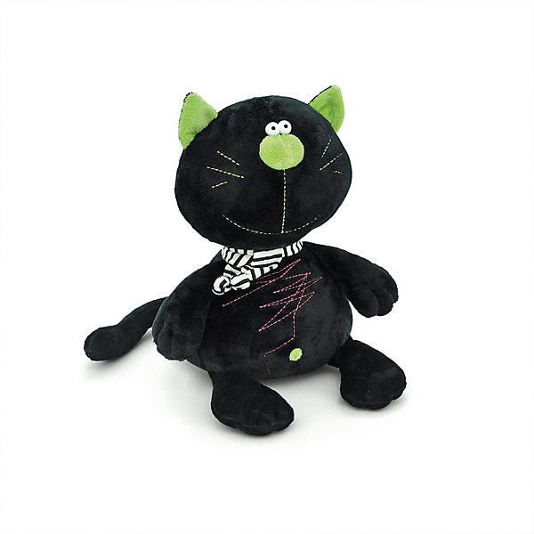 Мягкая игрушка Orange Toys Кот Батон чёрный, 15 смМягкие игрушки животные<br>Характеристики:<br><br>• возраст: от 3 лет;<br>• материал:  плюш, наполнитель, текстиль, пластик;<br>• цвет: черный;<br>• высота игрушки: 15 см;<br>• размер: 10х21х11 см;<br>• вес: 88 гр;<br>• страна бренда: Россия;<br>• бренд: Orange Toys.<br> <br>Игрушка Кот Батон  подарит необычайную радость тем, кто с ним играет. Кот Батон с зелеными ушками и носом выглядит очень мило, в комплекте у него веселый полосатый шарф. Детям очень нравится эта игрушка, ведь кот Батон не обидится, если его начнут разукрашивать фломастерами.<br><br>Игрушку  Кот Батон можно купить в нашем интернет-магазине.<br>Ширина мм: 100; Глубина мм: 110; Высота мм: 210; Вес г: 88; Цвет: черный; Возраст от месяцев: 36; Возраст до месяцев: 168; Пол: Унисекс; Возраст: Детский; SKU: 8316981;
