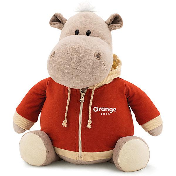 Orange Мягкая игрушка Orange Toys Бегемот в оранжевой толстовке, 30 см мягкая игрушка бегемотик orange байкер 30 см серый плюш ms6102 30