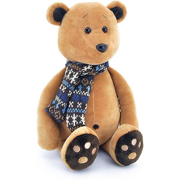 Мягкая игрушка Orange Life Медвежонок Медок в шарфике, 30 см, Китай, коричневый, Унисекс  - купить со скидкой