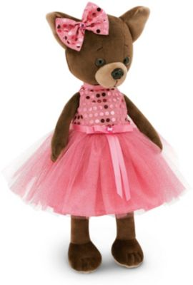 Мягкая игрушка Orange  Lucky Doggy  Собака Kiki: Малиновый блеск, 25 см, артикул:8317029 - Мягкие игрушки