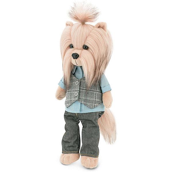 Мягкая игрушка Orange Lucky Doggy Собака Andy: Хипстер, 25 смМягкие игрушки животные<br>Характеристики:<br><br>• возраст: от 3 лет;<br>• материал:  плюш, текстиль, наполнитель, пластик, магнит;<br>• цвет: бежевый;<br>• высота игрушки: 25 см;<br>• размер: 12,5х44,4х19 см;<br>• вес: 1 кг;<br>• страна бренда: Россия;<br>• бренд: Orange Toys.<br> <br>Игрушка Lucky Andy: Хипстер может заинтересовать как девочек, так и мальчиков. Игрушка представляет собой уменьшенную копию собаки породы йорк и выглядит весьма узнаваемо.<br>Плюшевая собачка очень внимательно следит за всеми модными тенденциями, что нашло свое отображение в его наряде: джинсовые брюки темного цвета прекрасно сочетаются с полосатой жилеткой и батником с короткими рукавами. Дети смогут ухаживать за шерсткой своего игрушечного любимца - стричь ему волосы или делать интересные прически.<br><br>Игрушку  Lucky Andy: Хипстер можно купить в нашем интернет-магазине.<br>Ширина мм: 190; Глубина мм: 125; Высота мм: 444; Вес г: 1000; Цвет: бежевый; Возраст от месяцев: 36; Возраст до месяцев: 168; Пол: Унисекс; Возраст: Детский; SKU: 8317035;