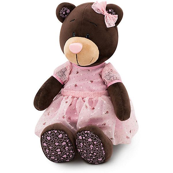 Мягкая игрушка Orange Choco&amp;Milk Медвежонок Milk: Розовый мусс, 25 смМягкие игрушки животные<br>Характеристики:<br><br>• возраст: от 3 лет;<br>• материал: плюш, наполнитель, текстиль, пластик;<br>• цвет: коричневый;<br>• высота игрушки: 25 см;<br>• размер: 27,5х13,5х20 см;<br>• вес: 225 гр;<br>• страна бренда: Россия;<br>• бренд: Orange Toys.<br> <br>Игрушка Milk: Розовый Мусс представляет собой милое создание, с которым захочется подружиться любому ребенку. Эта очаровательная зверушка в симпатичном розовом платьице выглядит так, что ее непременно хочется прижать к себе. Так как при создании данной игрушки использовались качественные материалы, ребяткам будет приятно заключать медведицу в свои объятия.<br><br>Игрушку  Milk: Розовый Мусс можно купить в нашем интернет-магазине.<br>Ширина мм: 275; Глубина мм: 135; Высота мм: 200; Вес г: 225; Цвет: коричневый; Возраст от месяцев: 36; Возраст до месяцев: 168; Пол: Унисекс; Возраст: Детский; SKU: 8317077;