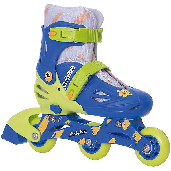 Moby Kids Раздвижные роликовые коньки 2 в 1 Moby Kids 26-29, сине-зелёные