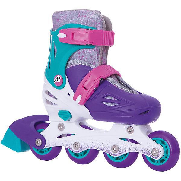 Moby Kids Раздвижные роликовые коньки Moby Kids 30-33, фиолетовые роликовые коньки раздвижные barbie