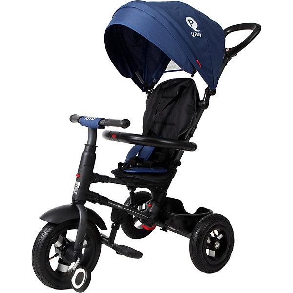 Трёхколёсный велосипед Moby Kids Qplay Rito Air 10x8, синийВелосипеды и аксессуары<br>Характеристики товара:<br><br>• возраст: от 3 лет;<br>• материал: метал, алюминий, резина, текстиль;<br>• размер упаковки: 59х38х35 см;<br>• вес: 11 кг;<br>• диаметр переднего колеса - 25см -10; <br>• диаметр задних колес - 20см - 8;<br>•страна бренда: Россия;<br>• бренд: Moby Kids.<br><br>Велосипед Moby Kids3 складной QPLAY RITO 10x8 AIR имеет переключатель свободного хода переднего колеса. Так ребёнок сможет крутить педали вхолостую отдельно от колеса, привыкая таким образом к новому для него виду движения. <br><br>Ручка велосипеда имеет два положения (ниже-выше), сиденье малыша можно фиксировать в трёх положениях. Удобный складывающийся тент закрывает ребенка от прямых солнечных лучей, а мягкий съемный подголовник повышает комфорт. Сиденье имеет возможность разворачивания на 360 градусов.<br><br>Безопасность ребенка обеспечивает ремень, раздвижная дуга с мягкими подлокотниками, а также ножной тормоз, который приучит малыша самостоятельно тормозить. Ножки ребенок может держать на складных подставках. <br><br>Эту модель обязательно оценят по достоинству мобильные родители. Велосипед имеет удобную систему складывания и при необходимости с лёгкостью превращается в компактную трость.<br><br>Велосипед Moby Kids3 складной QPLAY RITO 10x8 AIR можно купить в нашем интернет-магазине.<br>Ширина мм: 590; Глубина мм: 380; Высота мм: 350; Вес г: 11000; Цвет: синий; Возраст от месяцев: 36; Возраст до месяцев: 48; Пол: Мужской; Возраст: Детский; SKU: 8317133;