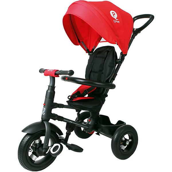 Трёхколёсный велосипед Moby Kids Qplay Rito Air 10x8, красныйВелосипеды и аксессуары<br>Характеристики товара:<br><br>• возраст: от 3 лет;<br>• материал: метал, алюминий, резина, текстиль;<br>• размер упаковки: 59х38х35 см;<br>• вес: 11 кг;<br>• диаметр переднего колеса - 25см -10; <br>• диаметр задних колес - 20см - 8;<br>•страна бренда: Россия;<br>• бренд: Moby Kids.<br><br>Велосипед Moby Kids3 складной QPLAY RITO 10x8 AIR имеет переключатель свободного хода переднего колеса. Так ребёнок сможет крутить педали вхолостую отдельно от колеса, привыкая таким образом к новому для него виду движения. <br><br>Ручка велосипеда имеет два положения (ниже-выше), сиденье малыша можно фиксировать в трёх положениях. Удобный складывающийся тент закрывает ребенка от прямых солнечных лучей, а мягкий съемный подголовник повышает комфорт. Сиденье имеет возможность разворачивания на 360 градусов.<br><br>Безопасность ребенка обеспечивает ремень, раздвижная дуга с мягкими подлокотниками, а также ножной тормоз, который приучит малыша самостоятельно тормозить. Ножки ребенок может держать на складных подставках. <br><br>Эту модель обязательно оценят по достоинству мобильные родители. Велосипед имеет удобную систему складывания и при необходимости с лёгкостью превращается в компактную трость.<br><br>Велосипед Moby Kids3 складной QPLAY RITO 10x8 AIR можно купить в нашем интернет-магазине.<br>Ширина мм: 590; Глубина мм: 380; Высота мм: 350; Вес г: 11000; Цвет: красный; Возраст от месяцев: 24; Возраст до месяцев: 48; Пол: Унисекс; Возраст: Детский; SKU: 8317153;