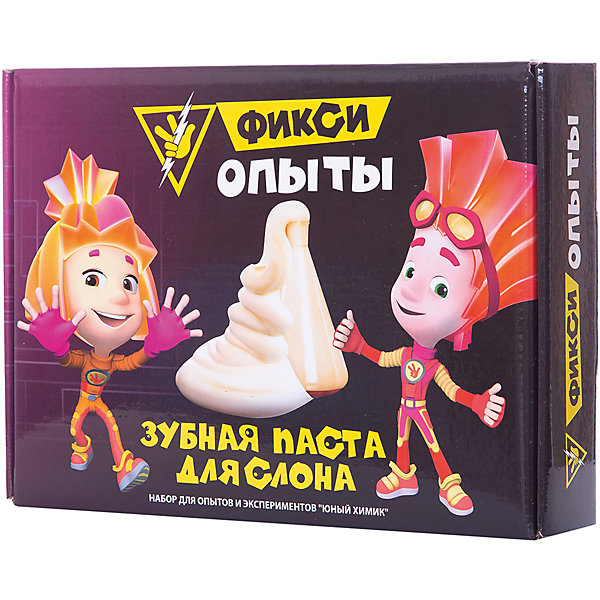 Купить Набор для опытов Висма Фикси опыты Зубная паста для слона, Россия, разноцветный, Унисекс