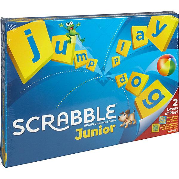 Настольная игра Скрабл Джуниор (английская версия) Mattel GamesНастольные игры для всей семьи<br>Настольная игра Скрабл Джуниор (английская версия) - увлекательная и захватывающая игра, в которую можно играть всей семьей. Игра поможет ребенку познакомиться с алфавитом, новыми словами и их правильным написанием. Игровое поле «Скрабл Джуниор» имеет две стороны, каждая из которых предназначена для двух разных игр: «Слова и картинки» и «Цвета и жетоны». Первый вариант рассчитан на детей 5 -8 лет с подсказками слов на поле, второй вариант для детей от 7 лет - игра по-взрослому, без подсказок.<br><br>Сюжет игры Скрэббл - составлять слова из имеющихся на руках фишек с буквами. Голубая сторона доски предназначена для игры «Слова и картинки». На этом игровом поле изображены слова с иллюстрациями. В процессе игры дети составляют из фишек с буквами слова на основе картинок. За каждое составленное слово участник получает голубой жетон. Победителем становится игрок с наибольшим количеством жетонов.<br><br>Вторая сторона игровой доски имеет желто-оранжевый цвет и предназначена для игры «Цвета и жетоны». Эта игра подходит детям старшего возраста. Игроки получают по пять фишек с буквами, из которых они должны составить слова по принципу кроссворда. Перед следующим ходом игрок добирает израсходованные фишки. За каждую использованную букву игрок получает очко. Цель игры - набрать как можно больше очков. В игре могут участвовать от 2 до 4 игроков.<br><br>&lt;p style= font-family: MuseoSansCyrl 500, sans-serif; font-weight: 100; font-size: 13px; color: rgb(28, 5<br>Ширина мм: 370; Глубина мм: 45; Высота мм: 265; Вес г: 683; Возраст от месяцев: 60; Возраст до месяцев: 84; Пол: Унисекс; Возраст: Детский; SKU: 8317203;