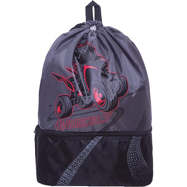 Мешок для обуви Grizzly, серый/чёрныйМешки для обуви<br>Характеристики:<br><br>• мешок для обуви;<br>• вмещает формат А4;<br>• водоотталкивающая пропитка;<br>• материал: полиэстер, лямки из репсовой стропы; <br>• размер: 34х52х22 см;<br>• вес: 120 гр.<br><br>Мешок для обуви с верхним и нижним отделенимями. Мешок оснащен дополнительной ручкой-петлей. Стягивающийся шнурок используется как застежка. Лямки мешка позволяют носить мешок как рюкзак. <br><br>Grizzly  Мешок для обуви   можно купить в нашем интернет-магазине.<br>Ширина мм: 340; Глубина мм: 10; Высота мм: 520; Вес г: 120; Цвет: черный/серый; Возраст от месяцев: 72; Возраст до месяцев: 2147483647; Пол: Мужской; Возраст: Детский; SKU: 8317210;