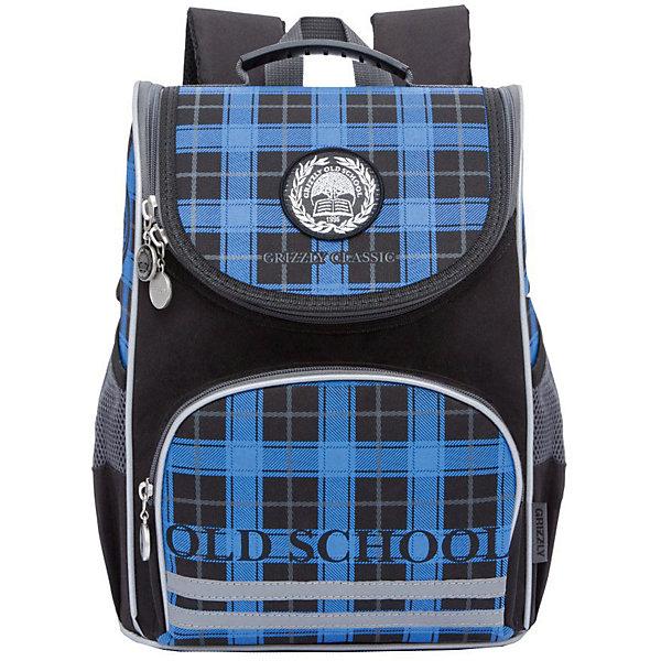 Купить RA-872-7 Рюкзак школьный с мешком /1 черный - синий, Grizzly, Россия, Мужской