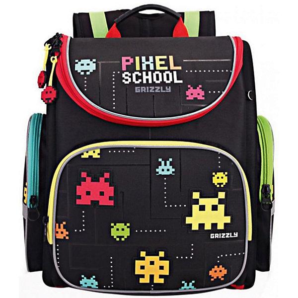 Купить RA-870-7 Рюкзак школьный с мешком /1 черный, Grizzly, Китай, Мужской