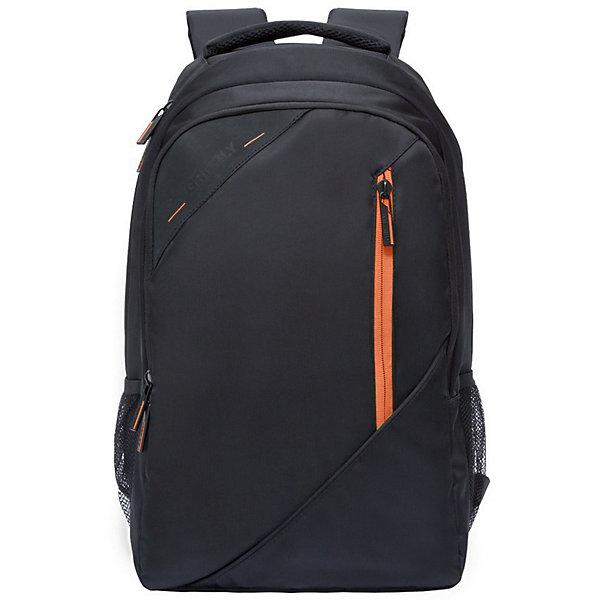 Рюкзак Grizzly, черный/оранжевыйРюкзаки<br>Характеристики:<br><br>• молодежный рюкзак;<br>• анатомическая жесткая спинка;<br>• укрепленные лямки;<br>• нагрудная стяжка-фиксатор;<br>• дополнительная ручка-петля;<br>• полужесткое дно;<br>• вмещает формат А4;<br>• материал: полиэстер;<br>• размер рюкзака: 32х45х23 см;<br>• вес: 891 г;<br>• объем: 24 л.<br><br>Городской мужской рюкзак Grizzly имеет два отделения, объемный карман на молнии на передней стенке, боковые карманы из сетки, внутренний карман на молнии, внутренний составной пенал-органайзер, внутренний укрепленный карман для ноутбука, карман быстрого доступа в передней части рюкзака. Карманы застегиваются на молнию. <br><br>Grizzly Рюкзак черный можно купить в нашем интернет-магазине.<br>Ширина мм: 290; Глубина мм: 40; Высота мм: 470; Вес г: 1070; Цвет: оранжевый/черный; Возраст от месяцев: 120; Возраст до месяцев: 2147483647; Пол: Мужской; Возраст: Детский; SKU: 8317238;