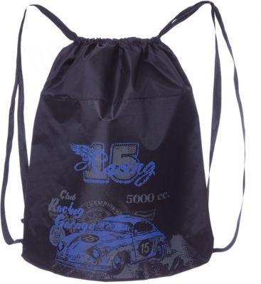 Мешок для обуви Grizzly, чёрный/синий, артикул:8317290 - Сумки