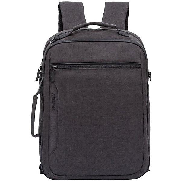 Grizzly Рюкзак Grizzly, чёрный рюкзак городской мужской grizzly цвет черный серый желтый ru 713 2 4