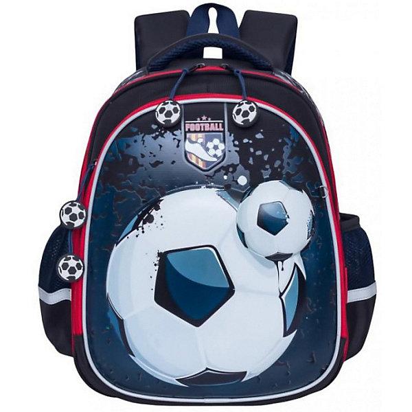 Рюкзак школьный Grizzly, чёрныйРюкзаки<br>Характеристики:<br><br>• формованный школьный рюкзак;<br>• жесткая анатомическая спинка;<br>• укрепленные лямки;<br>• лямки регулируются по длине и высоте; <br>• дополнительная ручка для переноски рюкзака в руках;<br>• замок: молния;<br>• жесткое дно;<br>• вмещает формат А4;<br>• светоотражающие элементы;<br>• материал: полиэстер;<br>• размер рюкзака: 28х36х20 см;<br>• вес: 990 гр.<br><br>Формованный школьный рюкзак Grizzly хорошо держит форму, имеет два отделения, в основном из которых находится еще три отдела.Внутренний отдел-органайзер: карманы для ручек, телефона, мелких предметов и держателем для ключей. Жесткая спинка разработана с учетом анатомии ребенка, позвоночник защищен специально сконструированной спинкой.<br><br>Grizzly Рюкзак каркасный школьный можно купить в нашем интернет-магазине.<br>Ширина мм: 280; Глубина мм: 200; Высота мм: 360; Вес г: 960; Цвет: черный; Возраст от месяцев: 72; Возраст до месяцев: 108; Пол: Мужской; Возраст: Детский; SKU: 8317308;