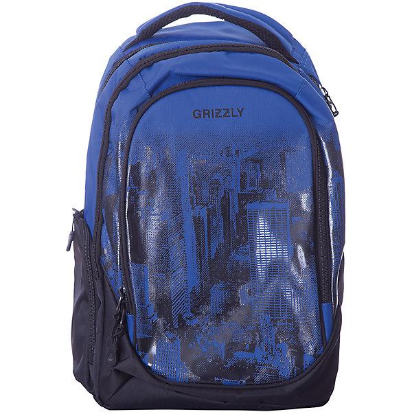 Рюкзак Grizzly, синийРюкзаки<br>Характеристики:<br><br>• молодежный рюкзак;<br>• жесткая анатомическая спинка;<br>• укрепленные лямки;<br>• дополнительная укрепленная ручка;<br>• замок: молния;<br>• полужесткое дно;<br>• вмещает формат А4;<br>• брелок для ключей;<br>• материал: полиэстер;<br>• размер рюкзака: 30х42х19 см;<br>• вес: 850 гр.<br><br>Городской рюкзак Grizzly имеет два отделения, два объемных кармана на молнии на передней стенке, боковые карманы из сетки, внутренний карман,внутренний карман для электронных устройств, внутренний составной пенал-органайзер.<br><br>Grizzly Рюкзак синий можно купить в нашем интернет-магазине.<br>Ширина мм: 280; Глубина мм: 40; Высота мм: 440; Вес г: 715; Цвет: синий; Возраст от месяцев: 120; Возраст до месяцев: 2147483647; Пол: Мужской; Возраст: Детский; SKU: 8317316;
